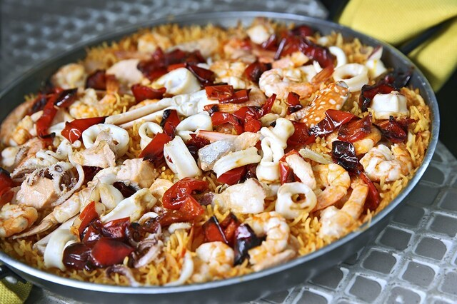Seafood Paella Indian-Style