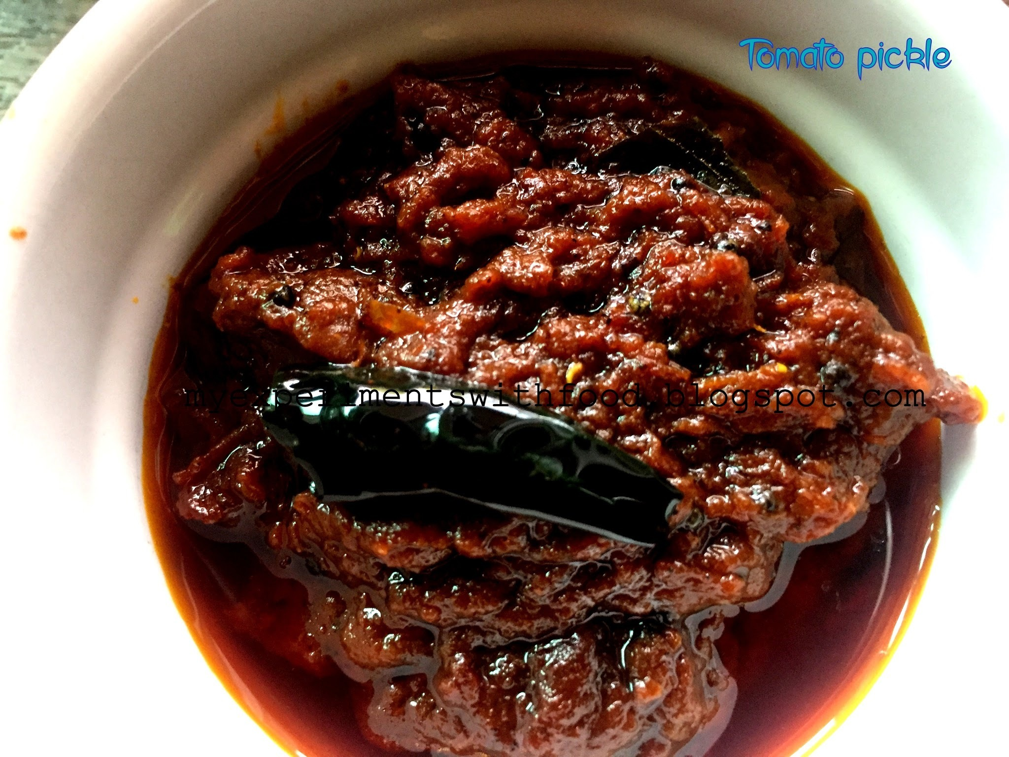 Instant Andhra Tomato pickle