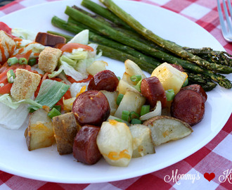 Oven Roasted Potatoes & Smoked Sausage