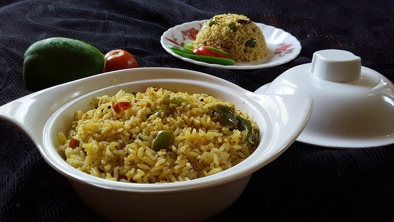 Capsicum Rice / Simple Lunch Box Recipe