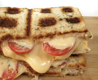 Grilled Cheese and Tomato Waffle Toastie