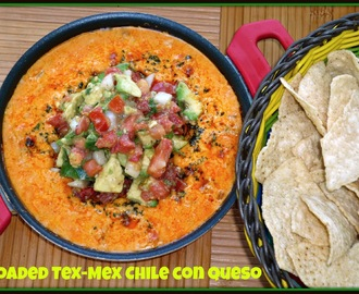 Regional Specialties #SundaySupper...Featuring Loaded Tex-Mex Chile con Queso