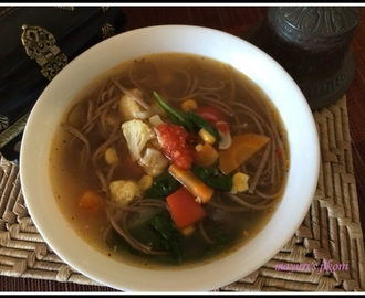 554.Vegetable Noodle soup