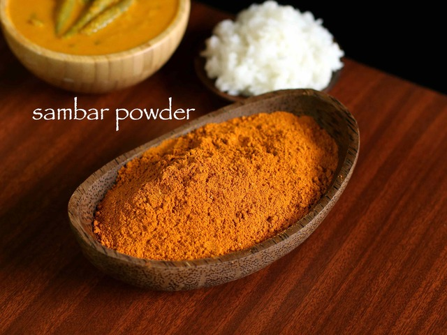 sambar powder recipe | homemade sambar masala podi recipe