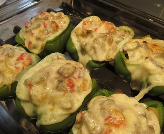 Savings for Sisters #176 - Philly Cheesesteak Stuffed Green Peppers