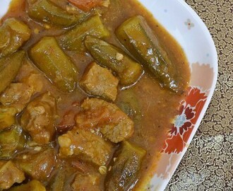 Khoreshte Bamieh ~ Persian Meat Okra Stew