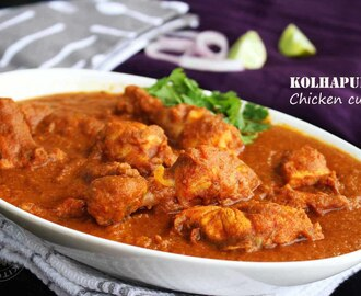 CHICKEN KOLHAPURI RECIPE - CHICKEN CURRY RECIPE
