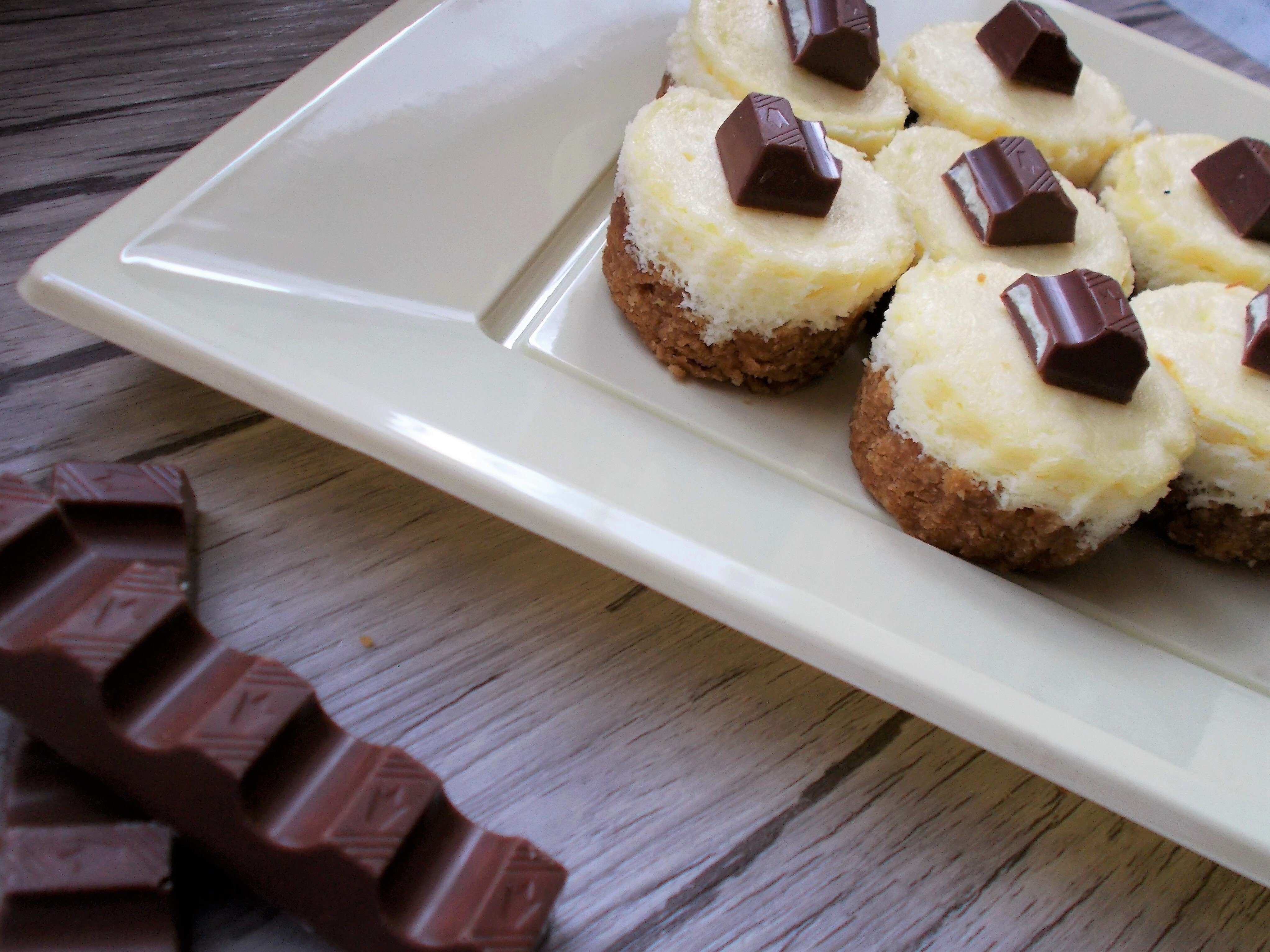 Mini CheeseCake al Cioccolato Kinder