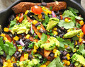 Healthy Sweet Potato Black Bean Nachos