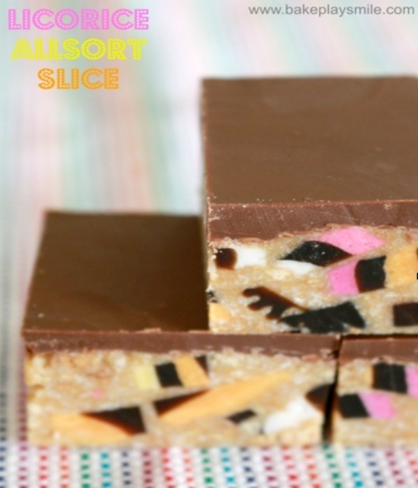 Licorice Allsort Slice – Fabulous Foodie Fridays #21