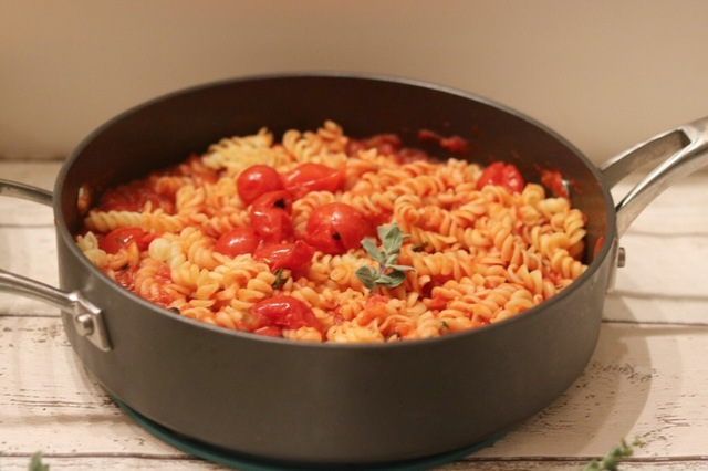 Pasta in a Thyme and Oregano infused Tomato Sauce
