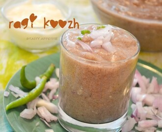 Ragi Koozh Recipe / Keppai Koozh / Ragi Porridge Recipe / Aadi Koozh / Step by Step Recipe