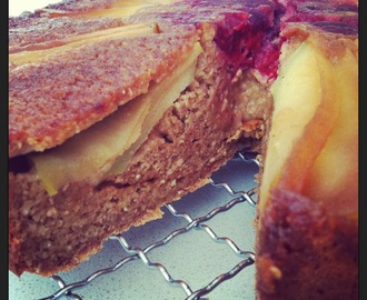 Apple and Raspberry teacake - gluten free