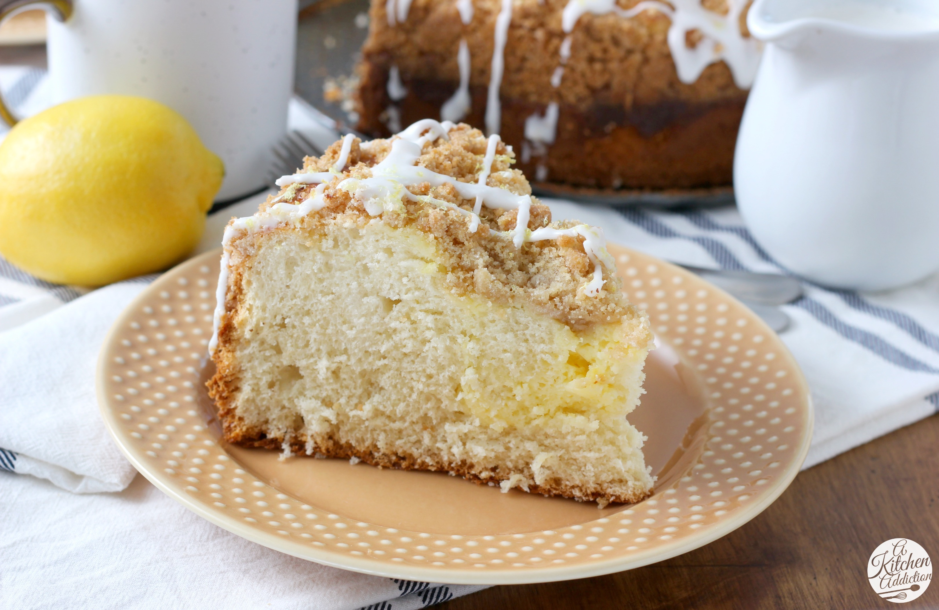 Cream Cheese Swirled Lemon Coffee Cake
