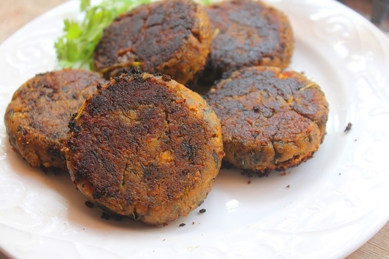 Vegetarian Shammi Kabab Recipe - Chana Kabab Recipe - Chickpea Kabab Recipe