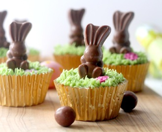 Malteaser Cupcakes With MaltEaster Mini Bunnies