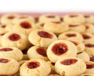 Condensed milk thumbprint cookies