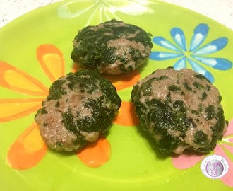 MINI HAMBURGER VITELLO E SPINACI PER BAMBINI