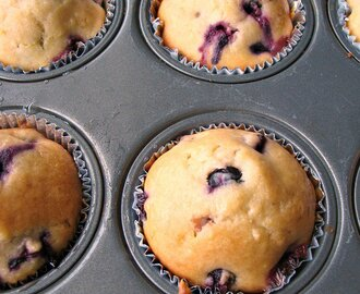 Lemon-Blueberry Cream Cheese Muffins #BrunchWeek