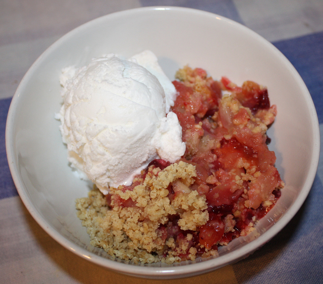 Apple & Plum Crumble