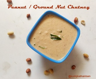 Ground Nut / Peanut / Verkkadalai Chutney without Coconut