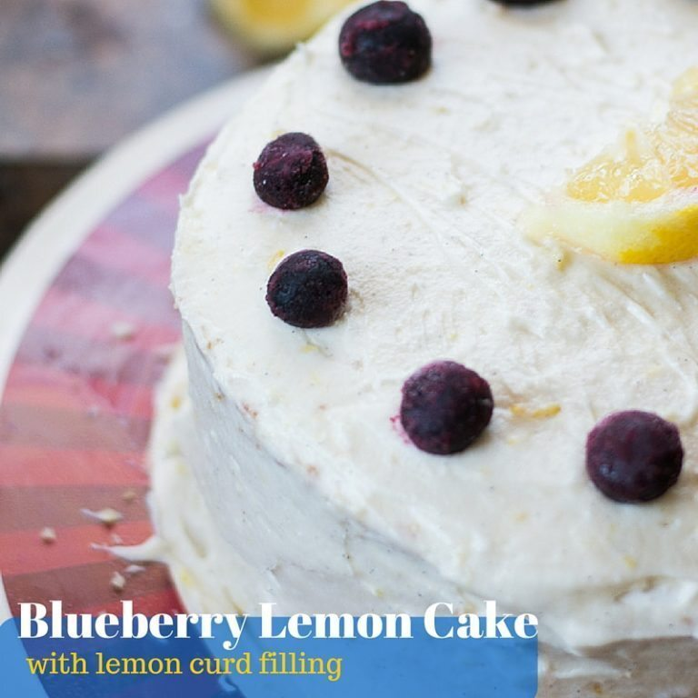Blueberry Lemon Cake with Lemon Curd Filling