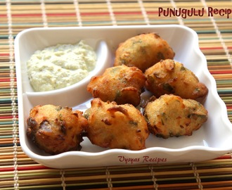 Punugulu Recipe - Andhra Punugulu from Idli Batter