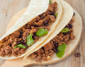 Mexicali Black Bean Tacos with Two Meats
