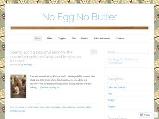 No Egg, No Butter