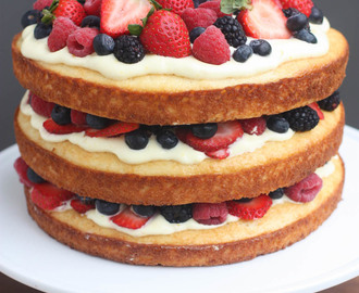 Berry Cake with Lemon Cream Mousse