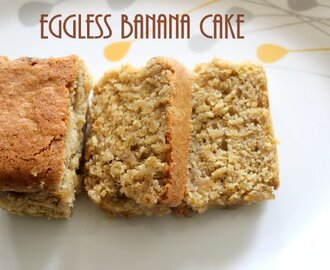 Eggless banana cake – How to make eggless banana cake recipe – eggless cakes