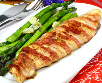 Bacon-wrapped Pangasius fillet