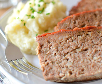 Diner Style Meatloaf with Ketchup Glaze