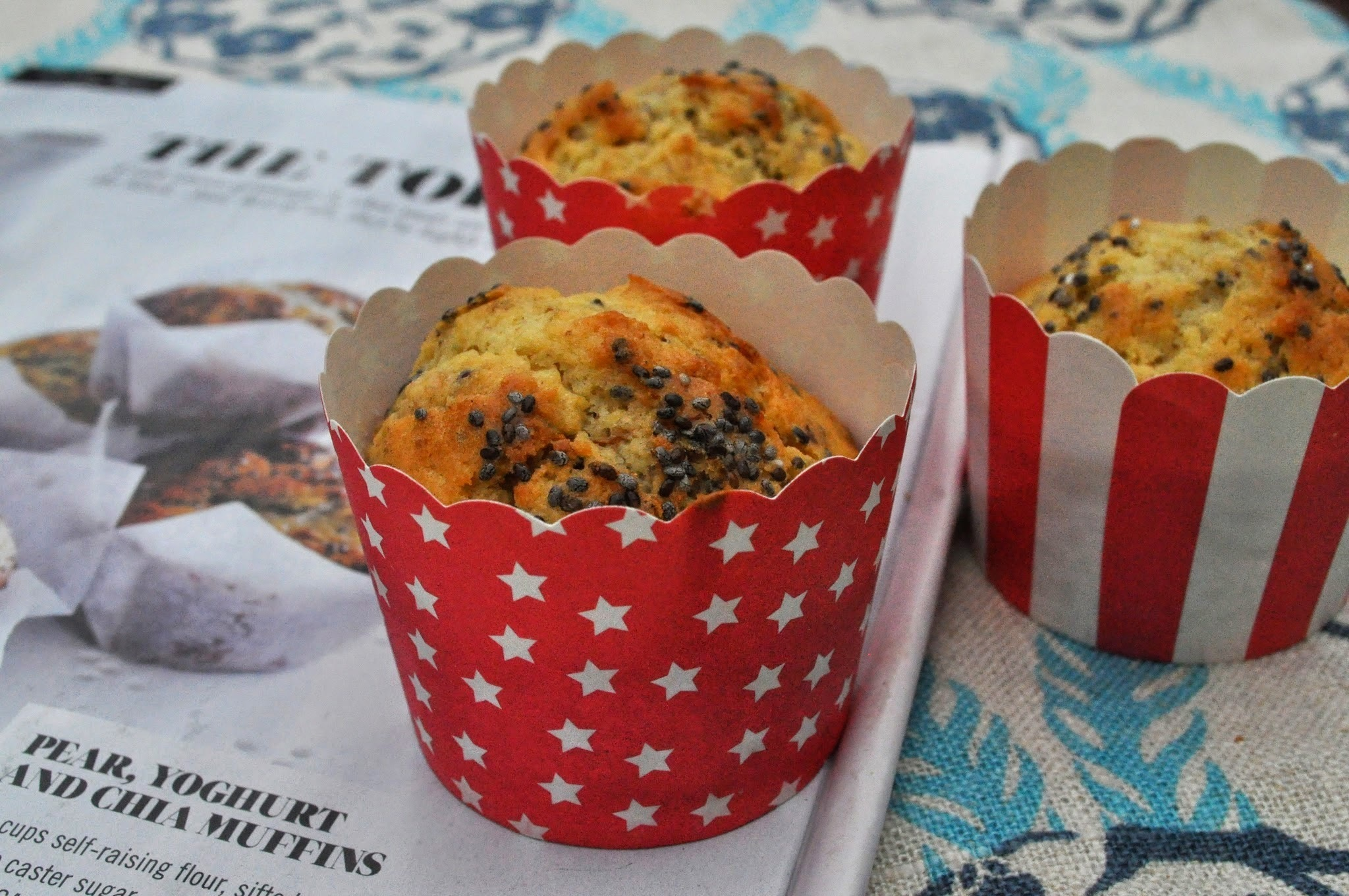 Sharing the love…Donna Hay's Pear, Yoghurt & Chia Muffins!