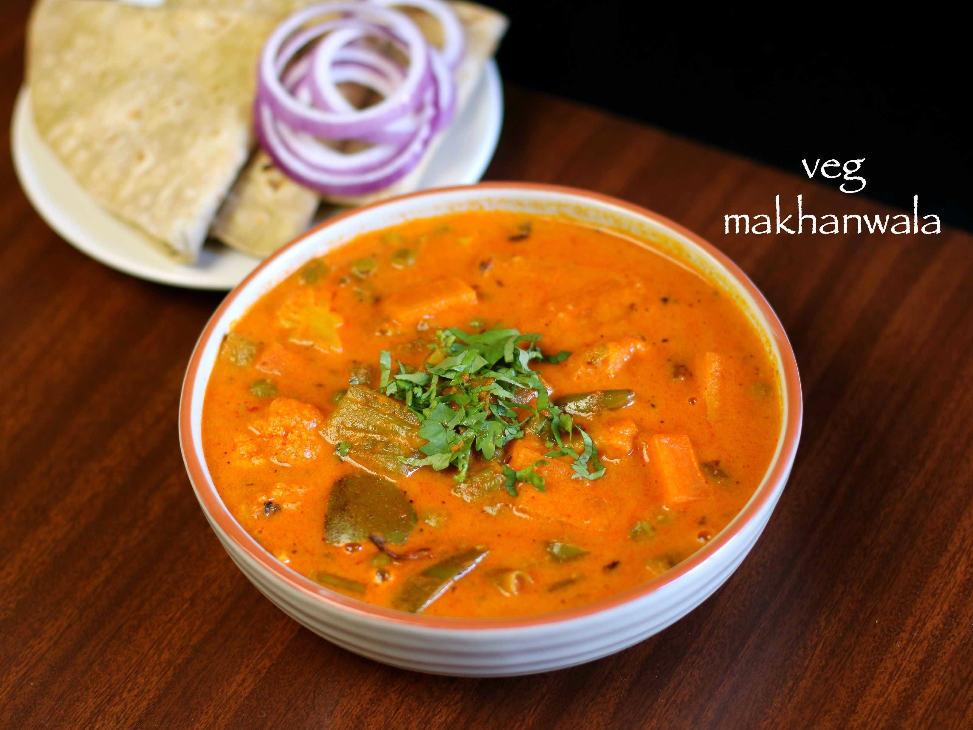 veg makhanwala recipe | vegetable makhanwala | veg makhani recipe