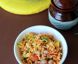 Beach style Kara Pori - Chaat recipe - Snack Recipes
