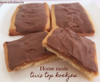 Home made twix top koekjes