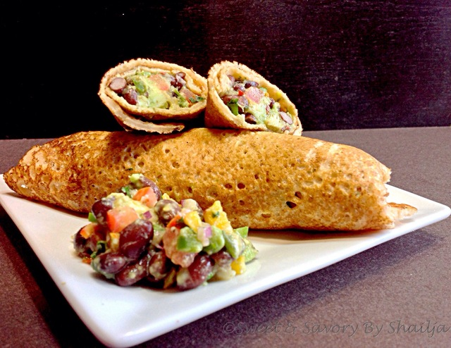 Fiesta Masoor Cheela TexMeX Salad Wrap… Diabetes friendly