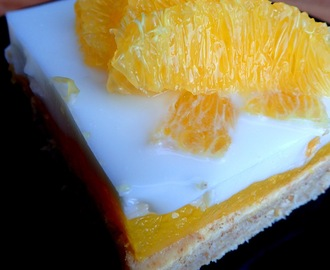 Low calorie, low fat orange and coconut cake - perfect for hot days.