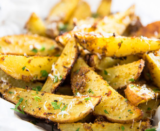 Oven Baked Garlic Parmesan Potato Wedges