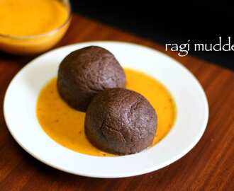 ragi mudde recipe | ragi ball recipe | finger millet ball | ragi sangati