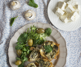 Mushroom and Spinach Mini Philo Quiches