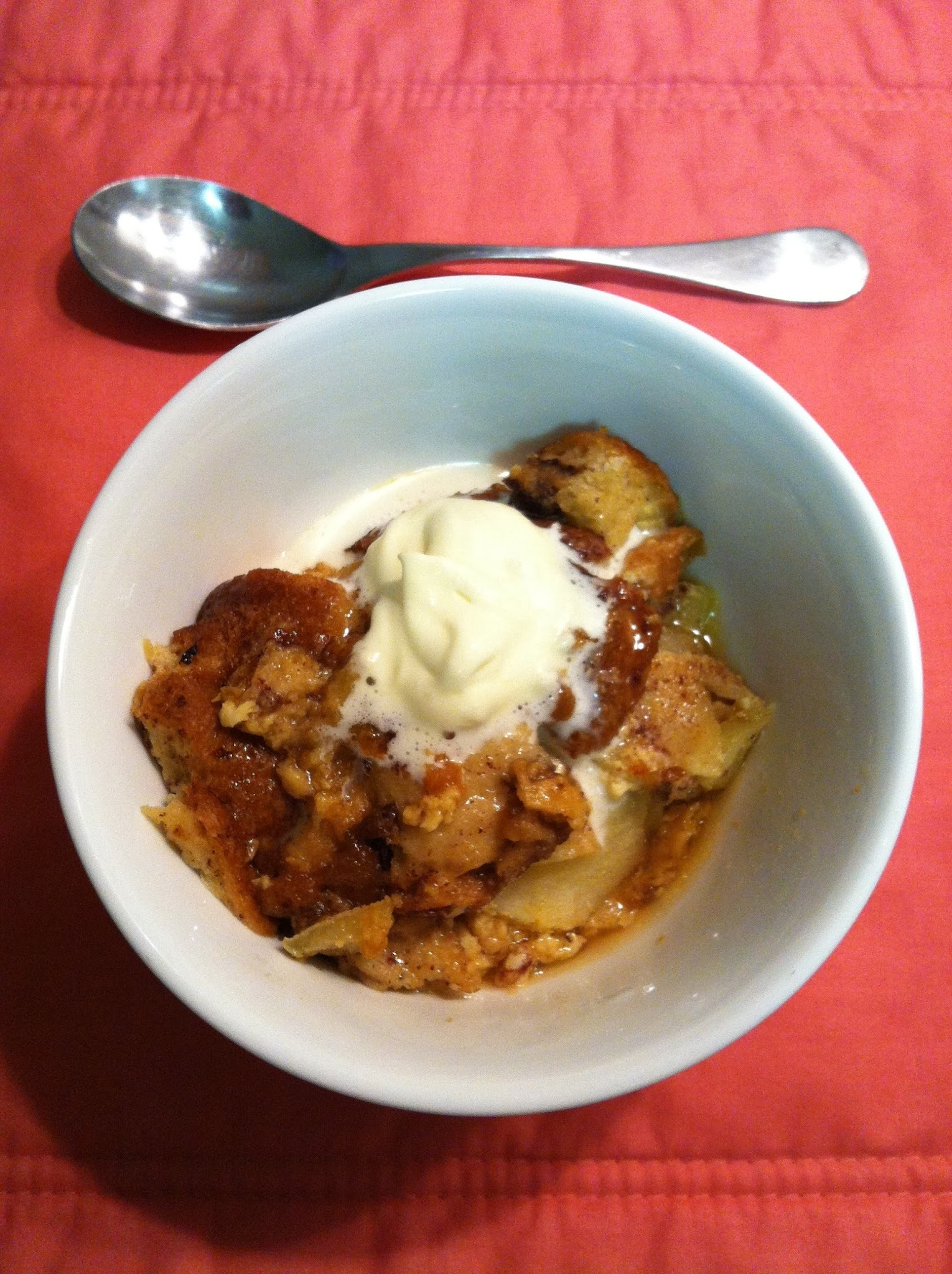 Bread and Butter Pudding with Apples | Slow Cooker Desserts