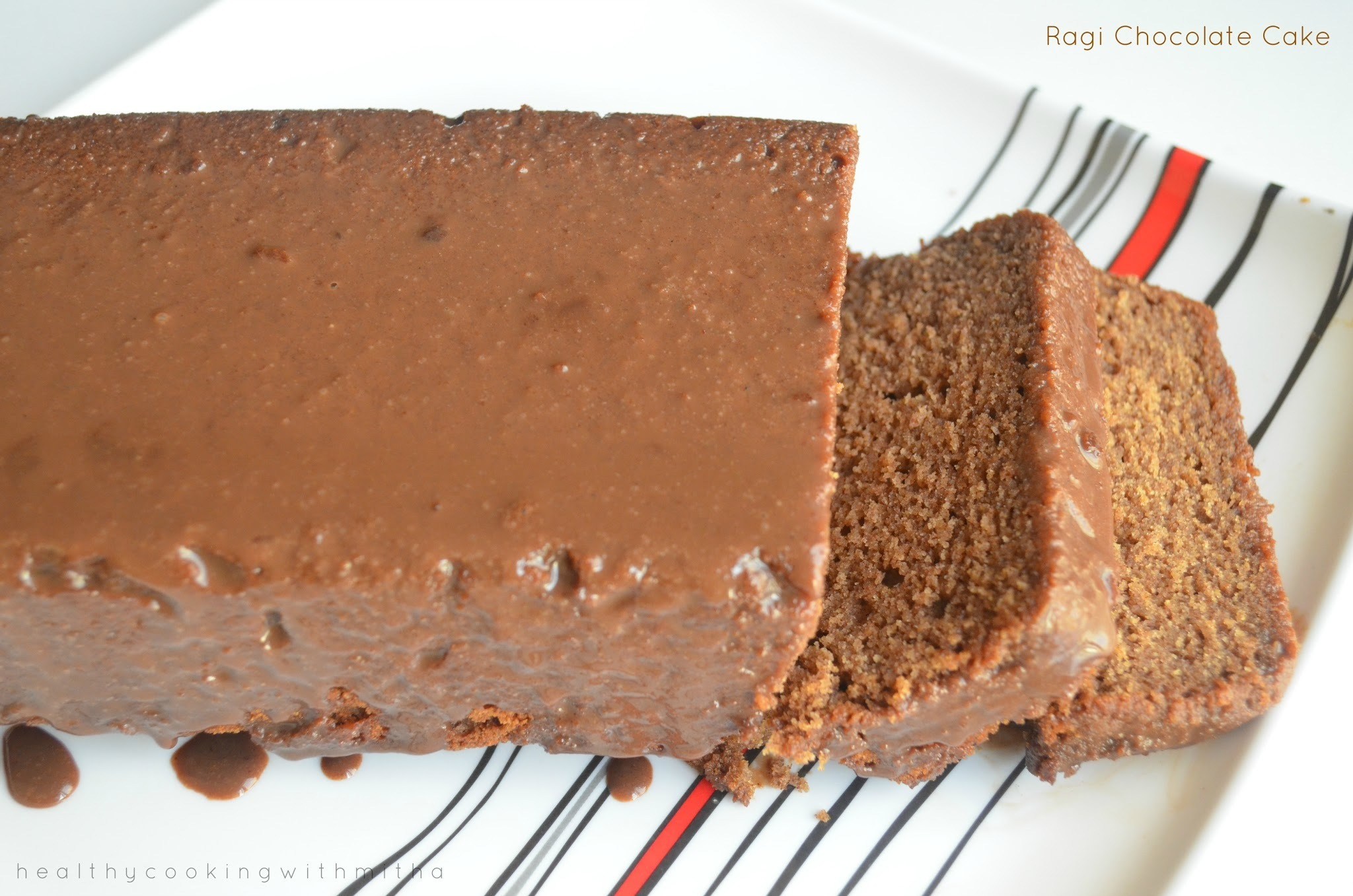 Ragi Chocolate Cake | Eggless, Whole Wheat and using Jaggery