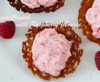 Ginger Crunch with Raspberry Mousse
