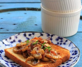 Recipe: Caramelised shallot & mushroom toasts (Gordon Ramsay)