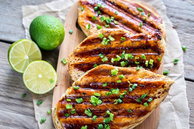 Grilled Chicken Breasts With Lime Sauce