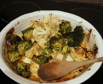 Mango chutney roast cauliflower and broccoli