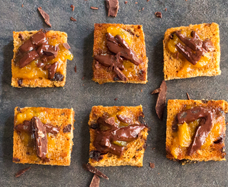 Spanish Tapas: Chocolate Toasts with Apricot Jam | #SundaySupper