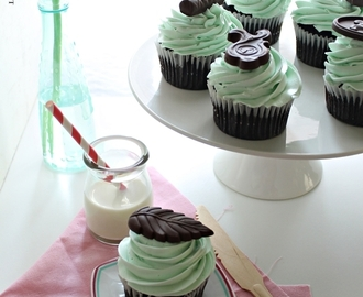 After Eight Mint Chocolate Cupcake